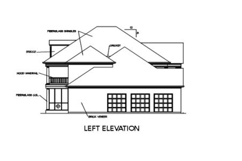 Southern Exterior - Other Elevation Plan #325-246 - Houseplans.com