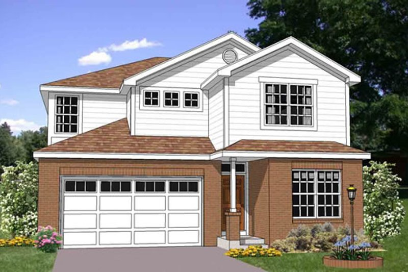 Traditional Style House Plan - 4 Beds 2.5 Baths 2196 Sq/Ft Plan #116-264 Exterior - Front Elevation