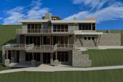 Modern Style House Plan - 4 Beds 4.5 Baths 4834 Sq/Ft Plan #920-91 Exterior - Other Elevation
