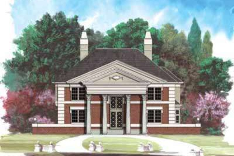 Classical Exterior - Front Elevation Plan #119-210