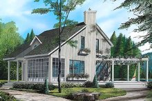 Contemporary Exterior - Front Elevation Plan #23-2035