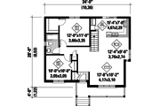 Country Style House Plan - 2 Beds 1 Baths 895 Sq/Ft Plan #25-4458 Floor Plan - Main Floor Plan