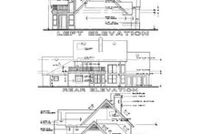 Home Plan - Traditional Exterior - Rear Elevation Plan #120-113