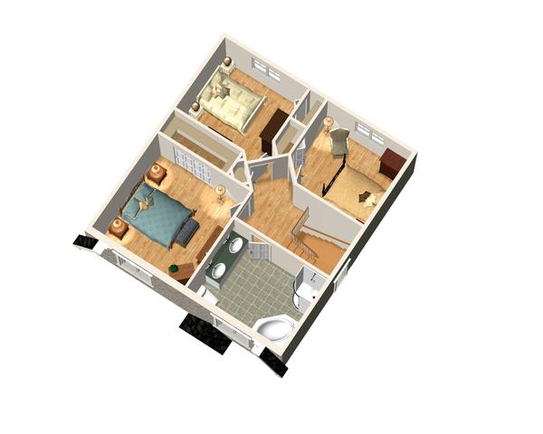 European Floor Plan - Upper Floor Plan #25-4469