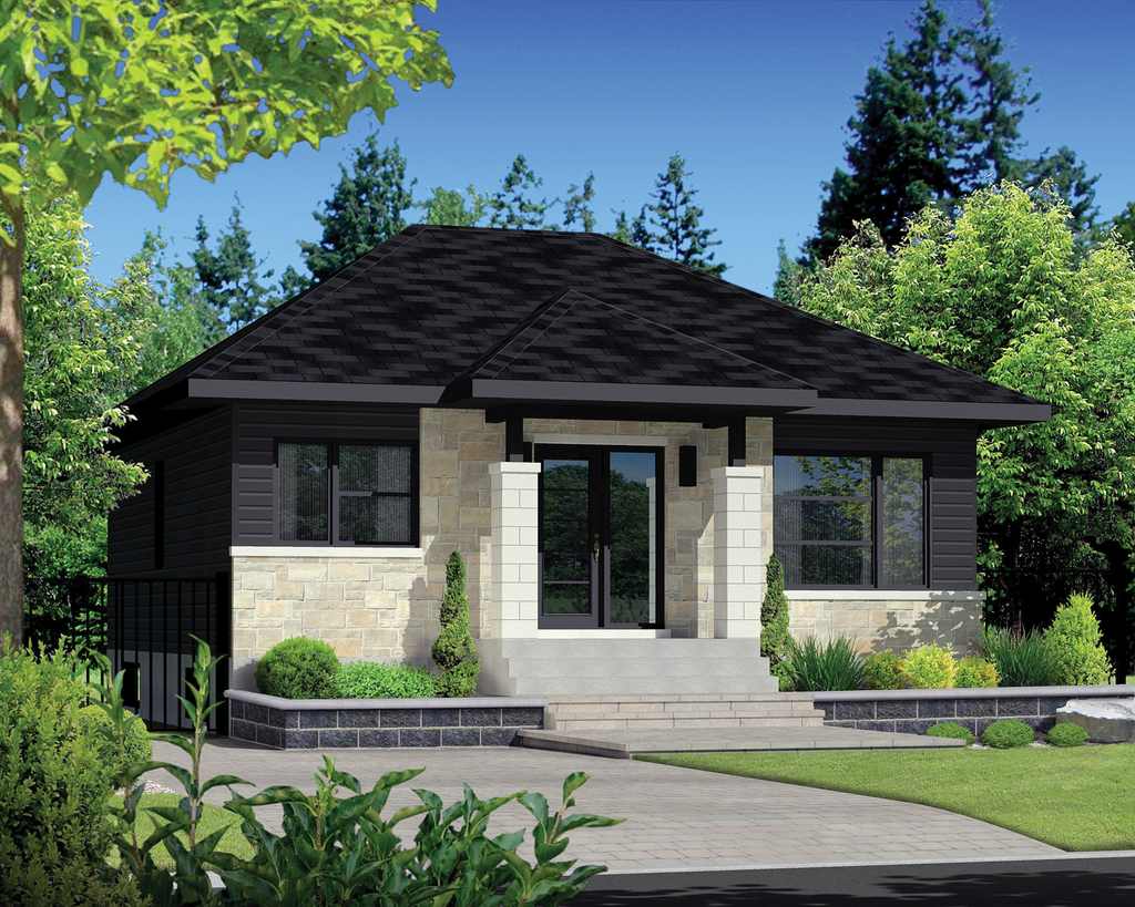 Contemporary style house plan 2 beds 1 baths 900 sq ft for Weinmaster house plans