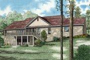European Style House Plan - 5 Beds 3 Baths 4827 Sq/Ft Plan #17-2272 Exterior - Rear Elevation