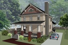 Dream House Plan - Craftsman Exterior - Front Elevation Plan #79-274
