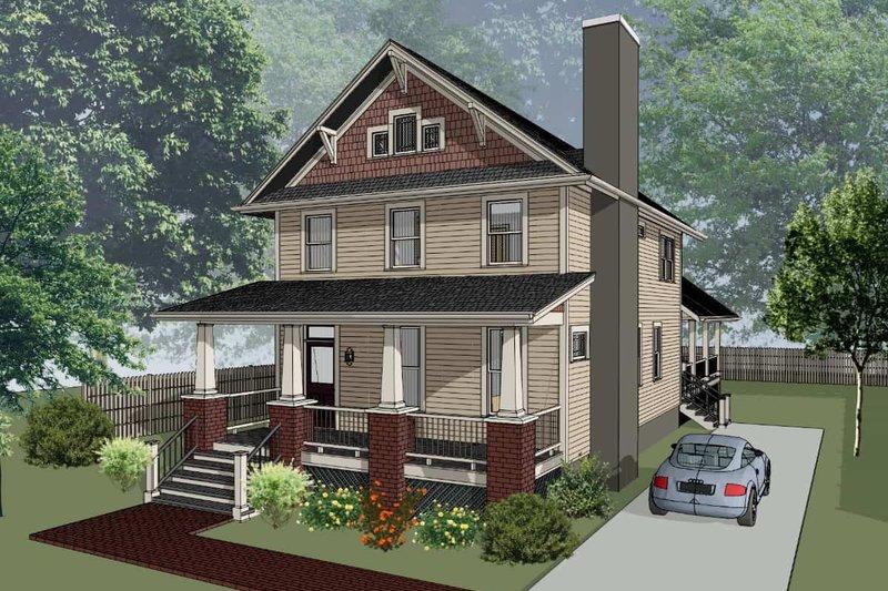 Architectural House Design - Craftsman Exterior - Front Elevation Plan #79-274