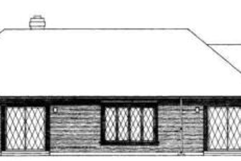 Traditional Exterior - Rear Elevation Plan #72-443 - Houseplans.com