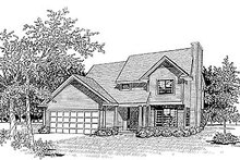 Traditional Exterior - Front Elevation Plan #70-148