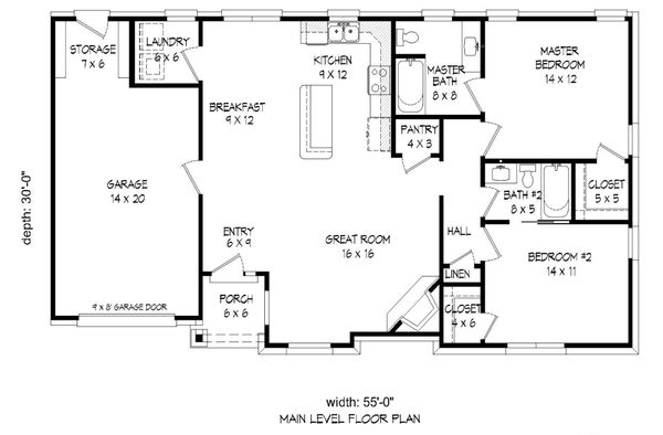 Craftsman Floor Plan - Main Floor Plan #932-25
