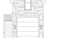 Country Exterior - Front Elevation Plan #932-302
