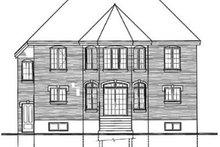 House Plan Design - European Exterior - Rear Elevation Plan #23-2137