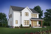 Contemporary Style House Plan - 4 Beds 2.5 Baths 2577 Sq/Ft Plan #48-1035 Exterior - Rear Elevation