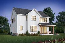 Dream House Plan - Contemporary Exterior - Rear Elevation Plan #48-1035