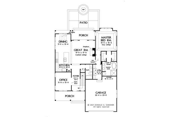 Architectural House Design - Cottage Floor Plan - Main Floor Plan #929-1137
