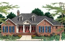 Southern Exterior - Front Elevation Plan #406-204