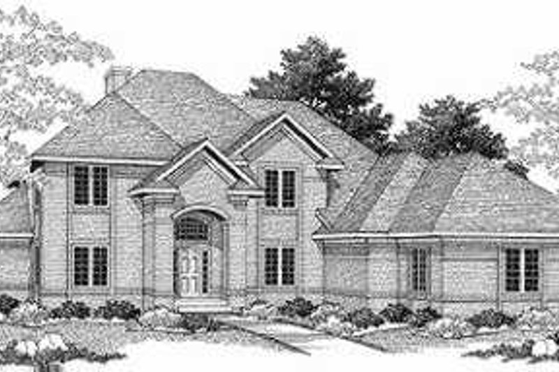 European Exterior - Front Elevation Plan #70-465