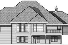 Home Plan - Traditional Exterior - Rear Elevation Plan #70-640