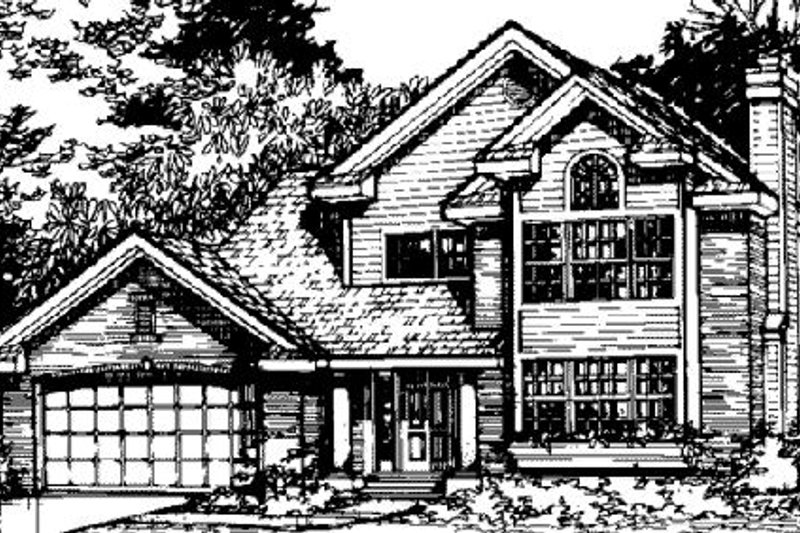 Traditional Style House Plan - 3 Beds 2.5 Baths 1709 Sq/Ft Plan #320-382 Exterior - Front Elevation