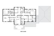 European Style House Plan - 5 Beds 7.5 Baths 6688 Sq/Ft Plan #542-9 Floor Plan - Upper Floor Plan