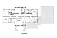 European Floor Plan - Upper Floor Plan Plan #542-9
