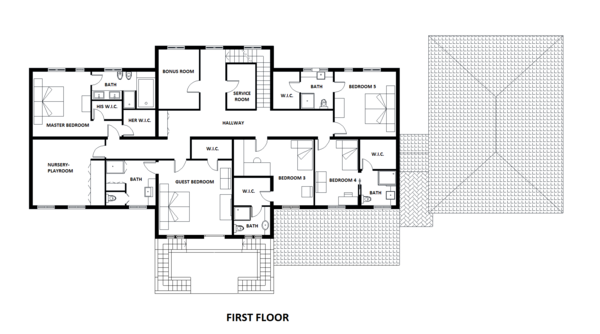 European Floor Plan - Upper Floor Plan Plan #542-9