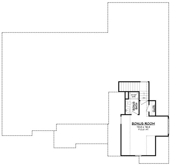 Farmhouse Floor Plan - Upper Floor Plan Plan #430-195