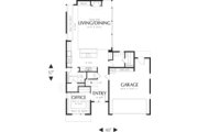 Modern Style House Plan - 2 Beds 2.5 Baths 1899 Sq/Ft Plan #48-571 Floor Plan - Main Floor Plan