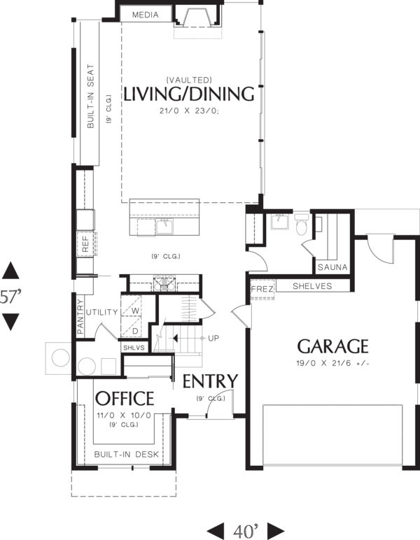 Modern Floor Plan - Main Floor Plan Plan #48-571