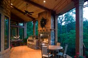 Craftsman Style House Plan - 3 Beds 3 Baths 3642 Sq/Ft Plan #54-391 Exterior - Covered Porch