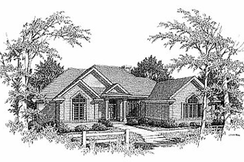 Traditional Exterior - Front Elevation Plan #70-299