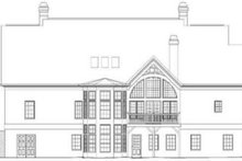 Colonial Exterior - Rear Elevation Plan #119-137