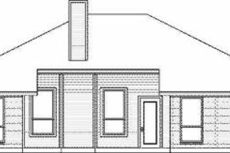 Traditional Exterior - Rear Elevation Plan #84-111 - Houseplans.com