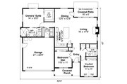 Ranch Style House Plan - 3 Beds 2 Baths 1610 Sq/Ft Plan #124-1161 Floor Plan - Main Floor
