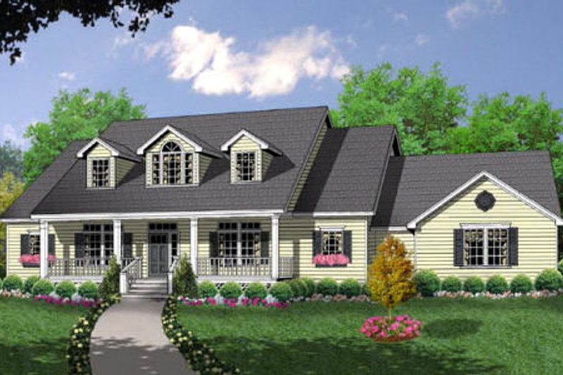 Country Exterior - Front Elevation Plan #40-180 - Houseplans.com