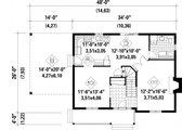 Farmhouse Style House Plan - 3 Beds 2 Baths 1621 Sq/Ft Plan #25-4262 Floor Plan - Main Floor Plan