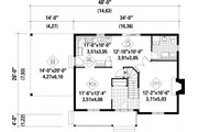 Farmhouse Style House Plan - 3 Beds 2 Baths 1621 Sq/Ft Plan #25-4262 Floor Plan - Main Floor