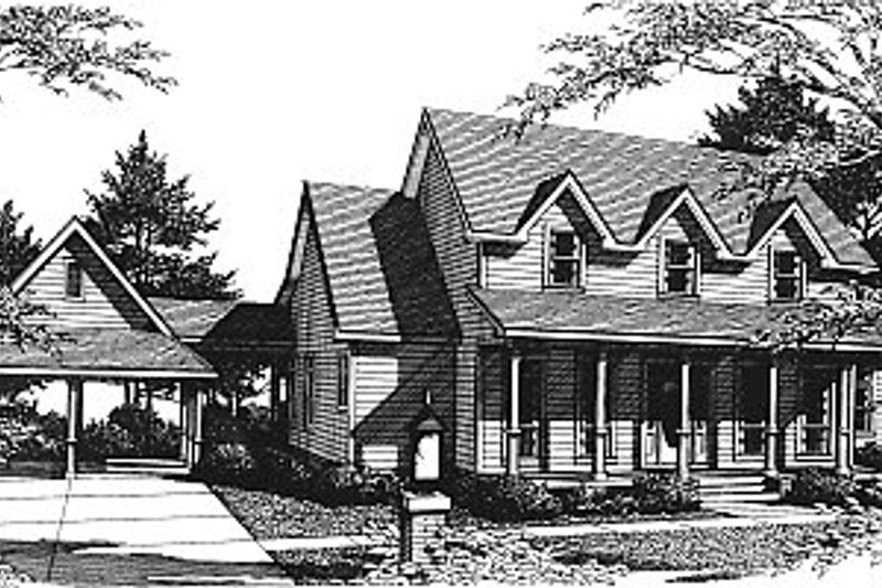 Country Exterior - Front Elevation Plan #14-210