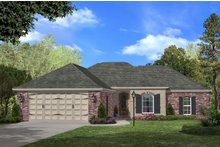 Dream House Plan - Ranch Exterior - Front Elevation Plan #430-59