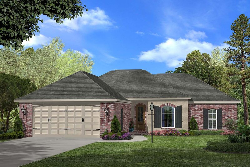 Ranch Exterior - Front Elevation Plan #430-59 - Houseplans.com