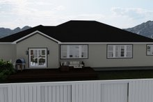 Traditional Exterior - Rear Elevation Plan #1060-45