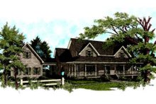 Farmhouse Exterior - Front Elevation Plan #56-222