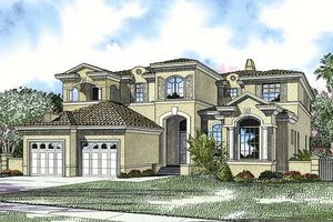 Mediterranean Exterior - Front Elevation Plan #420-163