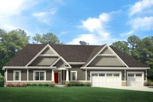 Dream House Plan - Ranch Exterior - Front Elevation Plan #1010-225