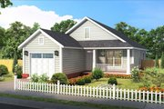 Cottage Style House Plan - 3 Beds 2 Baths 1284 Sq/Ft Plan #513-2187