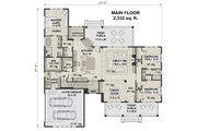 Farmhouse Style House Plan - 3 Beds 2.5 Baths 2332 Sq/Ft Plan #51-1141 Floor Plan - Main Floor Plan