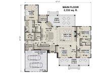 Farmhouse Floor Plan - Main Floor Plan Plan #51-1141
