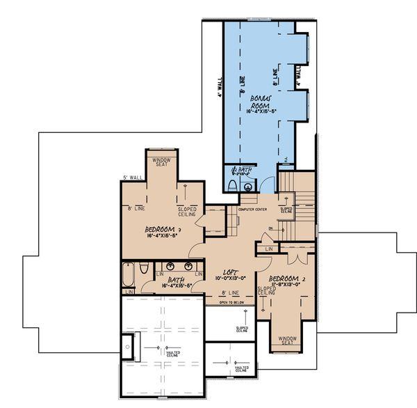 House Plan Design - European Floor Plan - Upper Floor Plan #923-184