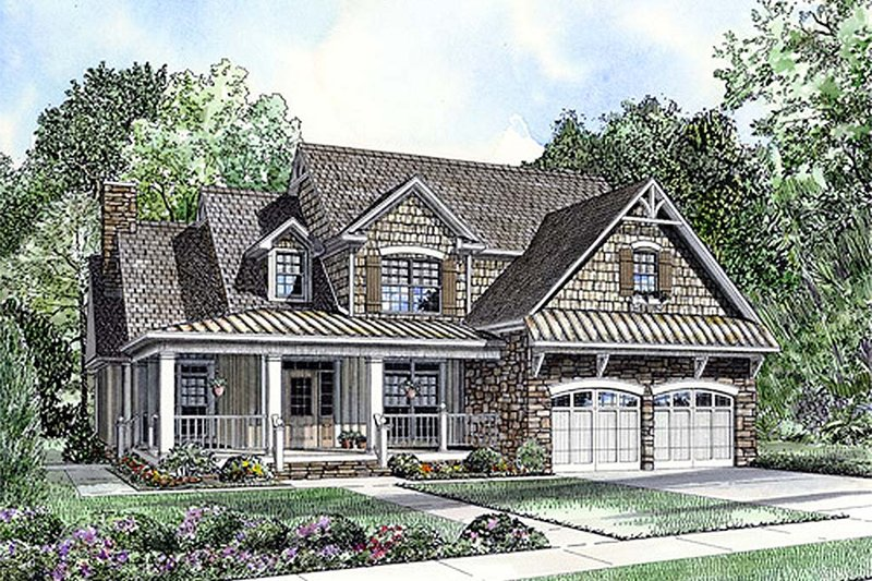 Dream House Plan - Country Exterior - Front Elevation Plan #17-2269